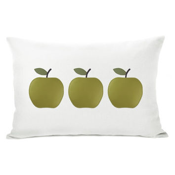 Personalized Modern Side by Side Apples Trio on by ClassicByNature