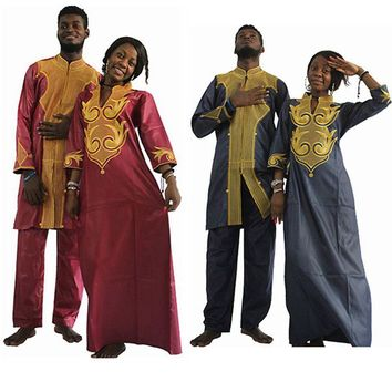 H&D Dashiki african couple dress clothing for men and women friends