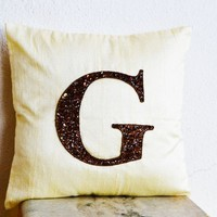 Premium Monogram Pillows - Personalized throw pillows - Silk Cushion