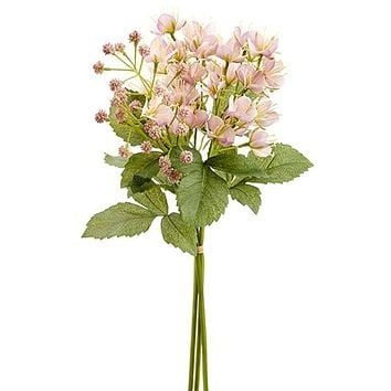 """Pink Artificial Cleome Spider Flowers Bundle - 18"""" Tall"""