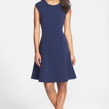Halogen® Ottoman Knit Fit & Flare Dress (Regular & Petite) | Nordstrom