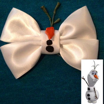 Bow inspired by Olaf from Disneys Frozen