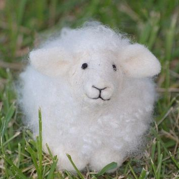 Sheep Needle Felting kit  DIY kit by BearCreekDesign on Etsy