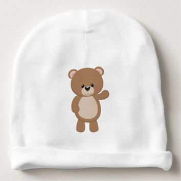 Cute Cartoon Brown Bear Baby Beanie