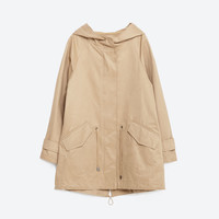 WATER REPELLENT A - LINE PARKA-View All-OUTERWEAR-WOMAN-SALE | ZARA United States