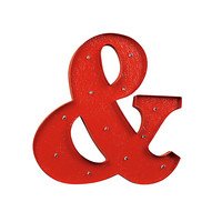 Illuminated Ampersand