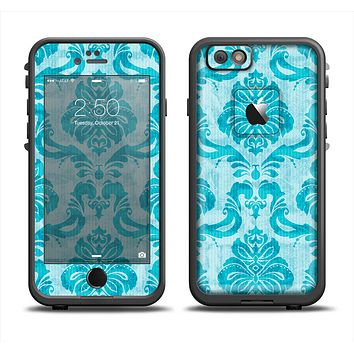 The Delicate Trendy Blue Pattern V4 Apple iPhone 6 LifeProof Fre Case Skin Set