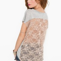 Lace Back Tee at Nasty Gal