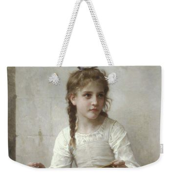 Sewing By Adolphe-William Bouguereau - Weekender Tote Bag