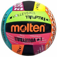 Molten's affordable Neon Colored I Love Volleyball Camp Volleyballs