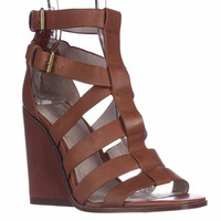 Pour La Victoire Cecile Strappy Wedge Sandals, Cigar, 6 US