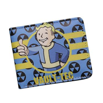New Game Designer Cartoon Wallets Fallout 4 Vault Boy Wallet Small Slim Dollar Money Bag For Children Girls Cute Anime Wallet