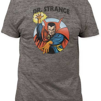 Mens Dr. Strange Mightiest Magician Tri Blend Tee Shirt