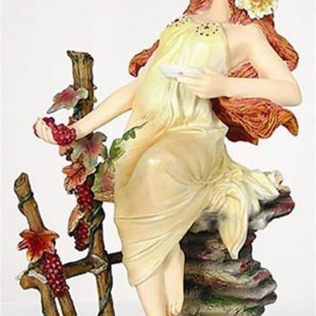 Autumn Maiden from Four Seasons Statue by Mucha 8.25H
