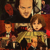 """The Shining Movie Poster"" LARGE by Michael DeNicola"