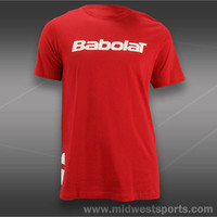 Babolat Mens Tennis T-Shirts, Babolat Logo 2 Short Sleeve Shirt 911016-104