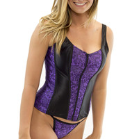 Purple sexy straps corset tops