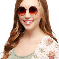ModCloth Vintage Inspired Come and Octagon Sunglasses