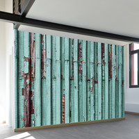 Distressed Turquoise Wall Mural