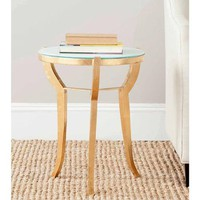Safavieh Ormond Accent Table, Gold and White - Walmart.com