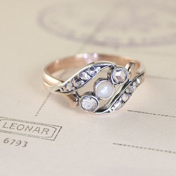 Pearl and Diamond Day Ring | Erica Weiner