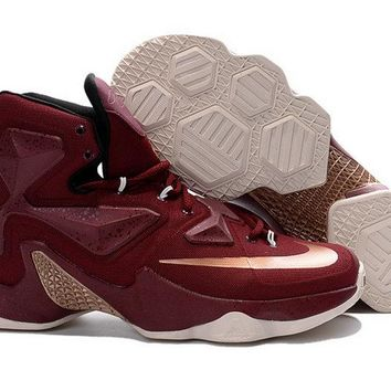 New Lebron 13 III Cavs Wine Gold Cleveland Cavaliers Away Brand sneaker