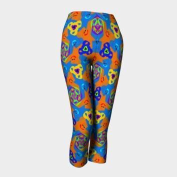 Hand Drawn Doodle All Over Print Capri Leggings