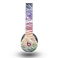 The Colorful Vector Zebra Animal Print Skin for the Beats by Dre Original Solo-Solo HD Headphones