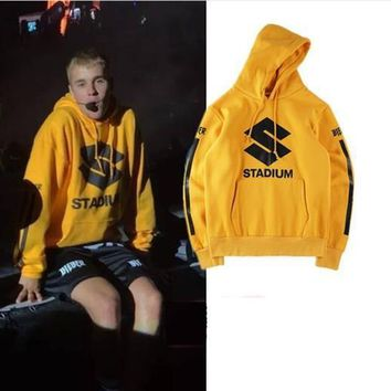 Justin Bieber purpose stadium tour Sweatshirts Streetwear Hoodie Hip hop KANYE WEST FOG SEASON Hoody play Sweatshirts