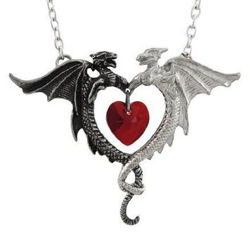 Alchemy Gothic Gothic Coeur Sauvage Dragon Pendant / Necklace