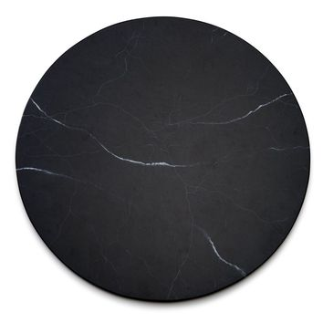 Marble Cafe Lacquer Placemat - S/2 Black