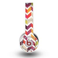 The Colorful Segmented Scratched ZigZag Skin for the Original Beats by Dre Wireless Headphones