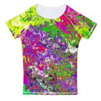 Color Explosion Womens Tee Shirt