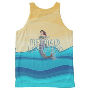 TEE Mermaid Lifeguard All-Over Print Tank Top