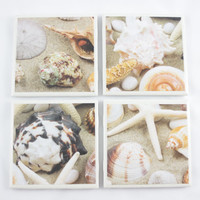Coasters Seashells Ceramic