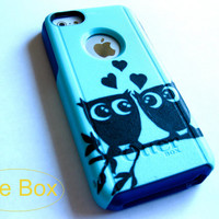 otterbox iphone 5s case, Iphone 5c case, Glitter case, Iphone cover, custom otterbox iphone 5c, gift, Owl iphone 5c case