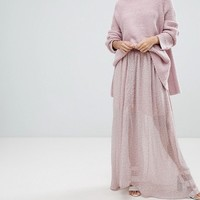 French Connection Sheer Floral Maxi Skirt at asos.com
