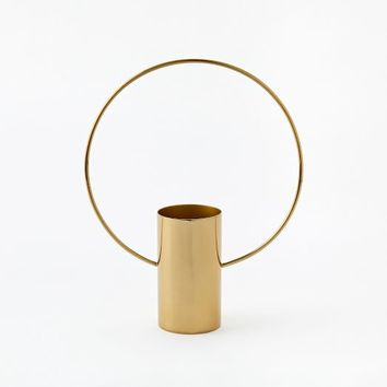 Brass Ring Vases