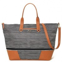 Getaway - Black/Cream Stripe