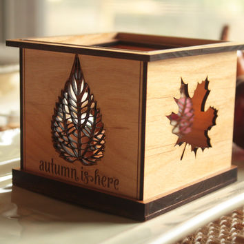Interchangeable Tealight Holder™ by Indigo Ember (formerly Tri~Elegance) for Fall (Starter Set)