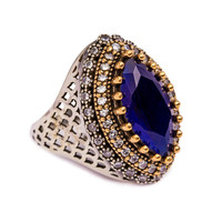 Turkish Authentic Handmade 925 Sterling Silver Jewelry Ring