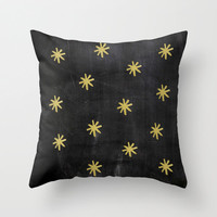 Gold Stars Velveteen Pillow - Decorative Pillows - Christmas Pillow - Gold Pillow Cover - Gift Idea for Her - Holiday Pillow - Holiday Decor
