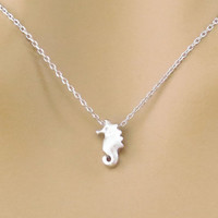 Sea horse, Gold, Silver, Necklace, Sea, Horse Jewelry, Cute, Dainty, Minimal, Animal, Jewelry, Great, Idea, For, Birthday, Friendship