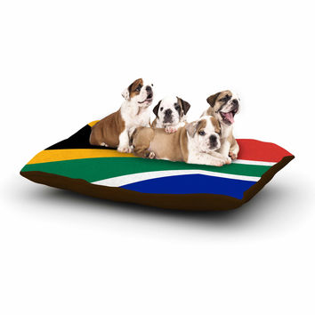"Bruce Stanfield ""South Africa II"" Green Blue Dog Bed"