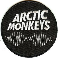 Arctic Monkeys Iron-On Patch Round Wavelength Logo