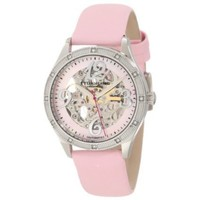 Stuhrling Original Women's 196SW3.121A4 Lifestyle Melody Automatic Skeleton Pink Mother-Of-Pearl Dial Watch - designer shoes, handbags, jewelry, watches, and fashion accessories | endless.com