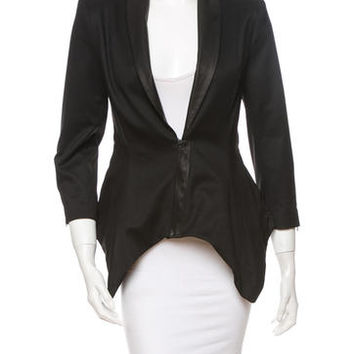 Alice + Olivia Leather Trim Jacket