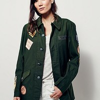 Understated Leather Womens Vintage Military Jacket