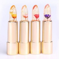 Hot Sell Kailijumei Purple Bright Flower Crystal Jelly Lipgloss Magic Change Color Lip Balm Lipstick Beautiful  [8323208961]