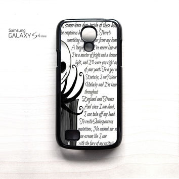 Jack And Sally Nightmare Before Christmas Couple B for Samsung Galaxy Mini S3/S4/S5 phone case